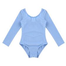 Girl Kid Ballet Dress Gymnastics Long Sleeve Leotards+Wrap Tutu Skirt Dance Wear