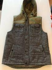 Beautiful Giant Dry Goods Full Zip Hoodie Sweatshirt Vest Men's Large Gray Green