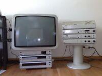 BRAUN ATELIER Komplett Completo - A1 T1 C1 P1 AF1 TV3 M9 RC1 VCR4  Vintage HiFi
