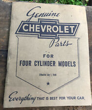 1940 Chevy Parts Manual ~ Original ~ 4 cyl models ~ eff July 1 1940 ~ 73 pgs Vgc