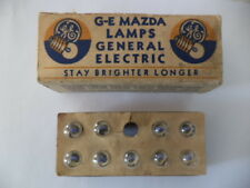 G-E MAZDA # 14 FLASHLIGHT MINIATURE BULBS(9)IN ORIGINAL BOX 2.5V/0.3 Amp/0.741W.
