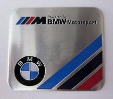 BMW Motorsport Aluminium Emblem Badge Sticker Decal 6 x 5.5cm. M3 M5 330C 325i
