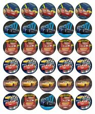 CARS 3 Edible Cupcake Toppers Wafer Paper Birthday Cake Party Decorations (30)