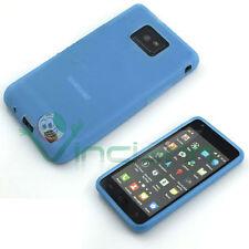 Case soft in silicone BLUE for Samsung Galaxy S2 i9100 e S2 Plus i9105