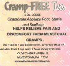 MENSTRUAL CRAMPS  HERBAL TEA  PAIN-FREE