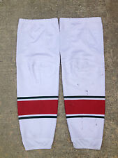 Minnesota Wild REEBOK Edge Pro Stock Hockey Shin Pad Socks XL+ 1003