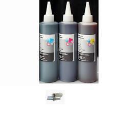 3x250ml Color BULK DYE-BASED REFILL INK FOR HP LEXMARK DELL CANON