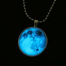 Cloud Starry Sky Steampunk Glow In Dark Pendant Necklace Stainless Steel Chain