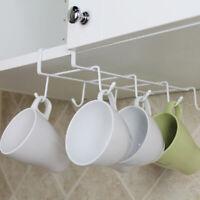 6/8 Hooks Cup Holder Firm Hang Kitchen Under Shelf Storage Rack Organiser Hook