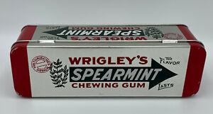 Wrigley's Spearmint Chewing Gum Dose Blechdose Merchandise guter Zustand