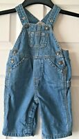Boys Gap Blue Denim Dungarees Trousers Baby Age 3-6 Months B80