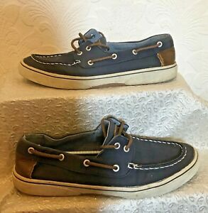 Men's Blue And Brown Casual Boat Shoes Size 8/42
