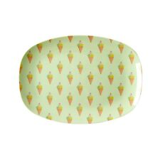 RICE Melamine small rectangular plate in ice cream print