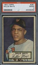 1952 Topps Willie Mays # 261 PSA 2  nice newly graded