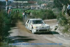 Peugeot 205 Turbo 16 Rally Car World Championship Poster 1985