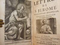 LETTERE S. GIROLAMO Lettres de S. Jerome 1679 Parigi Edizione Francese Antiporta