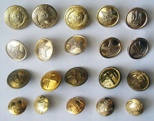 USSR  - 20 OFFICIAL Army Military UNIFORM different BUTTONS