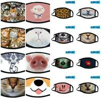 Face Mask Reusable Washable Christmas Print Protective Breathable Mouth Cover