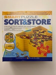 Eurographics Smart Puzzle Sort & Store 6 Stackable Trays Up To 1000 Pieces