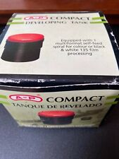A-P Compact Developing Tank NEW IN BOX Multiformat self-feed spiral 135 film
