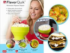 FLAVOR QUIK Popcorn Maker [ 2 SETS ] Microwave Bowl +  1Yr WARRANTY✓ FlavorQuik✓