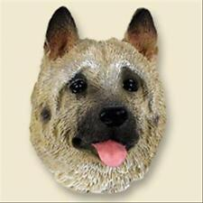 Akita Fawn Dog Head Painted Stone Resin Magnet