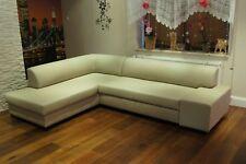 100% Echtleder Ecksofa Sofa Couch mit Bettfunktion Echt Leder Rindsleder