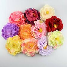 """5/100x Mix 4""""Artificial Silk Peony Flowers Heads Buds Bouquets Craft Home Decor"""