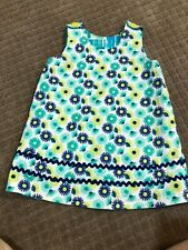 Adorable...Hola Chloe toddle girls Blue & green Reversible dress size 3T