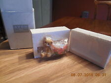 Nib Cherished Teddies Avon Tealight Bear & Pumpkin Candleholder 470333
