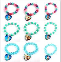Frozen Set Necklace+Bracelet+Ring Girl Beaded Pendant Girl Gift Accessories AU