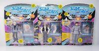 Lot of 3 Playmates Star Trek TNG Spock, Scott, McCoy Action Figures Vtg (20602)