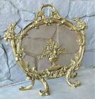 Antique French Rococo Brass Gilt Fireplace Screen