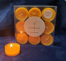 ORANGE FLOAT * 100% Soy Wax Tealight Candles * (9) Clean Burning Tea Lights