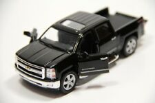 "5"" Kinsmart 2014 Chevrolet Silverado Truck Diecast Model Toy 1:46 Chevy - BLACK"