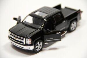 "5"" Kinsmart 2014 Chevrolet Silverado Truck Diecast Model Toy 1:46 Chevy - BLACK"