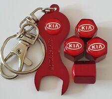 KIA Metallic Red Valve Dust Caps Picanto Sportage C'eed Rio Sedona Venga Optima