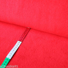 Fleece Stoff Uni Einfarbig Rot Red -  Polar Lambskin Vlies - Winterstoffe