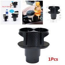 Carbon Fiber Look Car Multi Dual Cup Holder Drinking Bottle Holder Accessories