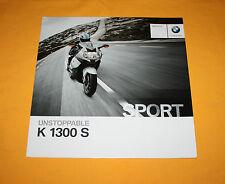 BMW K 1300 S 2011 prospectus brochure depliant catalog Prospetto Folder broschyr
