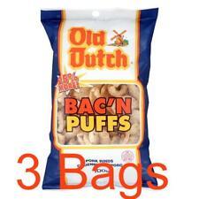 3 Bags of Old Dutch Bac'n Bacon Puffs Pork Rinds - 100g fresh from Canada