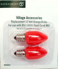 Dept. 56 Replacement Light Bulbs S/2 Orange 12V Dead Creek Mill 800031 New