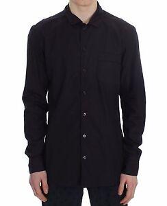 NEW $440 DOLCE & GABBANA Shirt Purple Striped Cotton Pajama Lounge Night IT4 / S