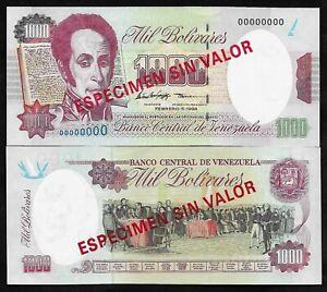 VENEZUELA PICK 76c - 1000 BOLIVARES - 1998 - GEM UNC - SPECIMEN - BOLIVAR
