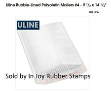 """8 ct Uline Bubble-Lined Polyolefin Mailers #4 - 9 1⁄2 x 14 1⁄2"""" FREE US Shipping"""