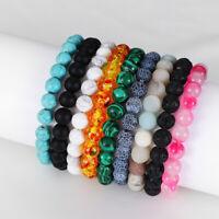 Bracelet de perles en pierre naturelle cadeau bracelet turquoise  tigre Pratique