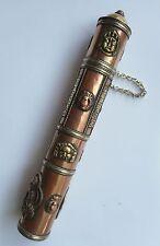 Tibetan Buddha & Mantra Brass & Copper Incense Holder #8