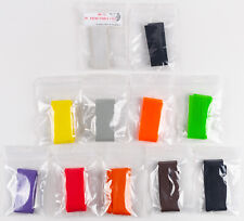 Lot of 11 Packages Round Rubber Legs - Fly Tying Materials