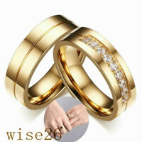 Couple Ring Titanium Steel Lover Her and His Wedding Promise Band  6MM