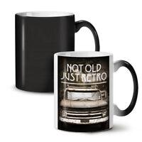 Not Old Retro Car NEW Colour Changing Tea Coffee Mug 11 oz | Wellcoda